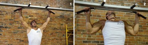 Wide grip pullups to the chest